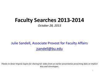 Faculty Searches 2013-2014 October 28, 2013
