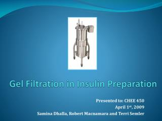 Gel Filtration in Insulin Preparation