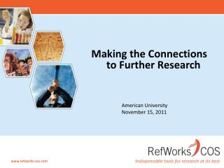 Making the Connections to Further Research