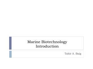 Marine Biotechnology Introduction