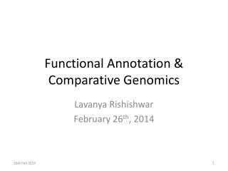 Functional Annotation & Comparative Genomics