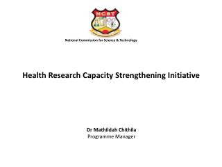Health Research Capacity Strengthening Initiative