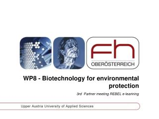 WP8 - Biotechnology for environmental protection