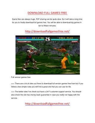 download full games free
