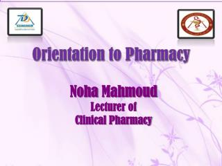 Noha Mahmoud Lecturer of  Clinical Pharmacy