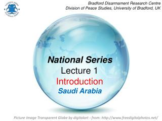 National Series Lecture 1 Introduction Saudi Arabia