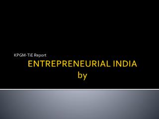 ENTREPRENEURIAL INDIA by