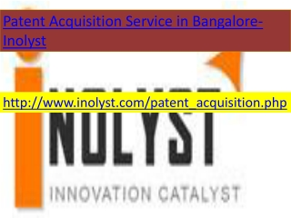 patent acquisition service in banaglore