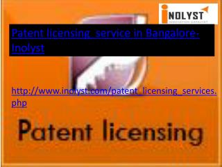 patent licensing service in bangalore