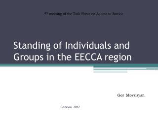 Standing of Individuals and Groups in the EECCA region