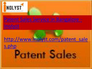patent sales service in bangalore