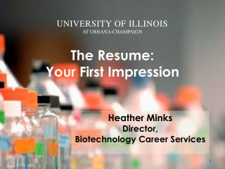 The Resume: Your First Impression