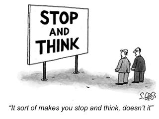 """""""It sort of makes you stop and think, doesn't it"""""""
