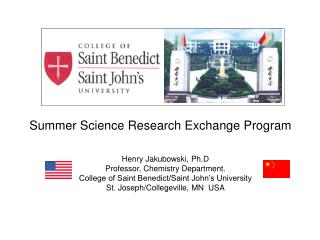 Summer Science Research Exchange Program