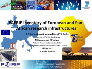 PAERIP inventory of European and Pan-African research infrastructures