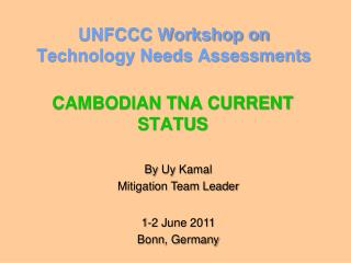 UNFCCC Workshop on Technology Needs Assessments