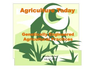 Agriculture Today