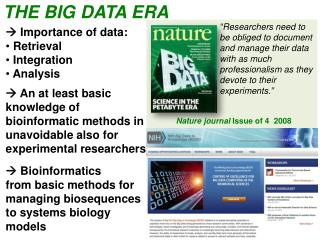 THE BIG DATA ERA
