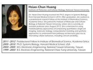 Hsiao-Chun  Huang Institute  of Molecular and Cellular  Biology , National Taiwan  University