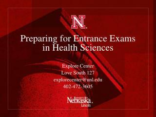 Preparing for Entrance Exams in Health Sciences