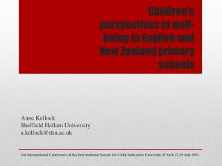 Children's perspectives of well-being in English and New Zealand primary schools