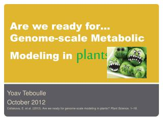 Are we ready for…  Genome-scale  Metabolic Modeling  in plants
