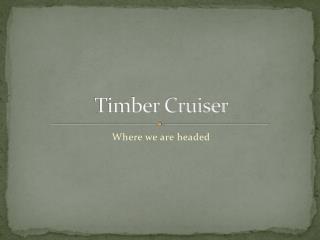Timber Cruiser