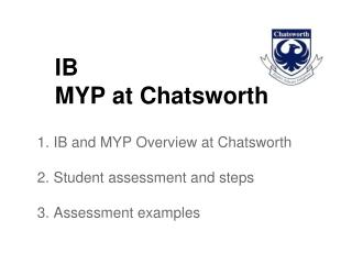 IB MYP at Chatsworth