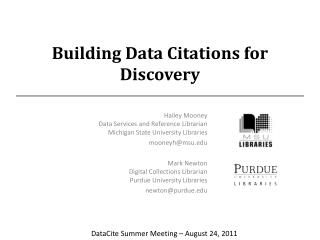 Building Data Citations for Discovery