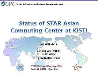 Status of STAR Asian Computing Center at KISTI