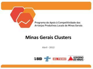 Minas Gerais Clusters Abril - 2012