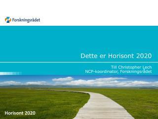 Dette er Horisont 2020