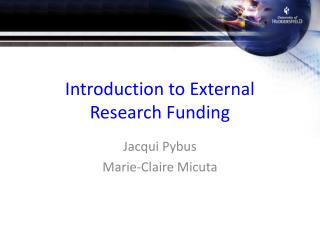 Introduction to External Research Funding