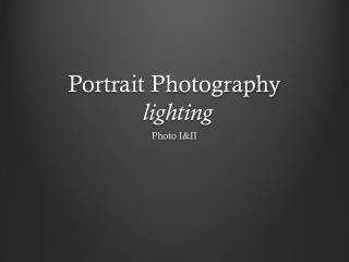 Portrait Photography lighting