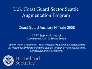 u.s. coast guard sector seattle  augmentation program