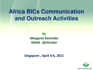 Africa BICs Communication and Outreach Activities