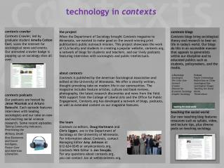 technology in  contexts