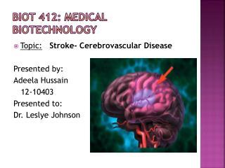 BIOT 412: Medical Biotechnology
