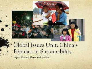 Global Issues Unit: China's Population Sustainability