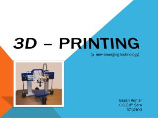3D � PRINTING