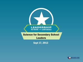 Science for Secondary School Leaders