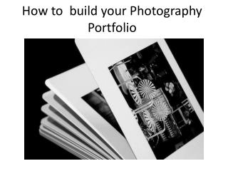 How to  build your Photography Portfolio