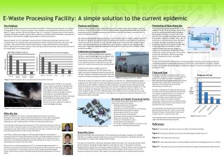 Elements of E-Waste Processing Facility Our proposed facility (Figure 4) will house several mechanical components inclu