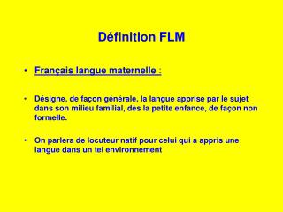 d finition flm