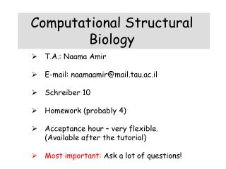 Computational Structural Biology