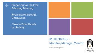 MEETINGS:  Monitor, Manage, Mentor