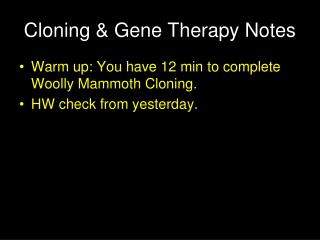 Cloning & Gene Therapy Notes