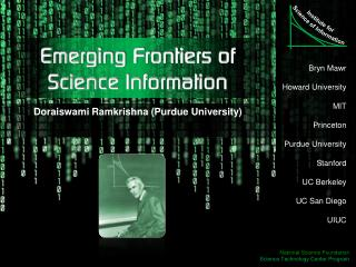 Emerging Frontiers of  Science Information