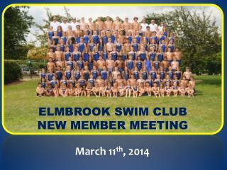 Elmbrook  Swim Club New member Meeting