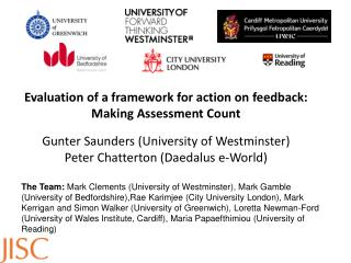 Evaluation of a framework for action on  feedback:  Making Assessment Count